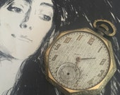 Old Non - Working Ornate Pocket Watch - Steampunk Pendant