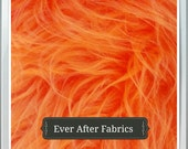 New Orange Faux Fur Craft Size