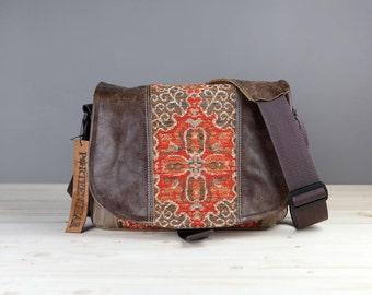 Medium - Leather Camera Bag New Satchel  -  Paprika Southwestern Leather DSLR - Pre-Order