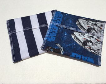 Reusable Snack Bag Set of Two Star Wars Blue Stripe Eco Friendly