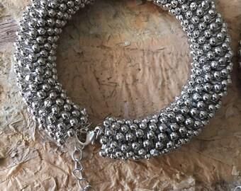 Large snowflake bead bracelet