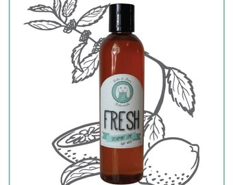 Organic Body Wash -FRESH- Sulfate Free, Paraben Free, All Natural, made with essential oils - Spearmint Lime
