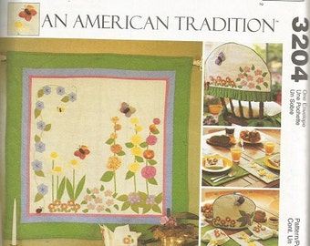 McCall's 3204  Crafts An American Tradition Pattern for Wall Quilt, Tabler Runner, and More     CLEARANCE ITEM