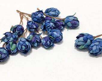 Artificial BLUE Hops Blossoms - Artifial Flowers, Silk Flowers, Flower Crown