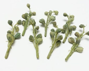 Artificial Flowers - One Lot of 7 Plastic Delphinium Buds on Stems - Plastic Flower Buds