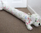 Sausage Dog Draught Excluder, Fabric, Dog, Shabby Chic, Door, Home Decor, Handmade, Fabric, Home, Home and Garden, Free Postage