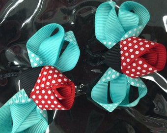 Ladybugs two piece hair pins