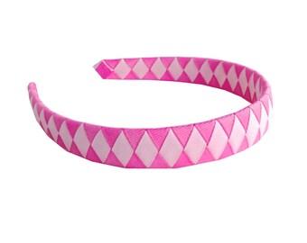 Pink Headband - Two-toned Pink Woven Headband - Light Pink and Hot Pink Woven Headband