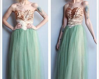 20% Sale 1950s Dress // Magical Mermaid Party Dress // vintage 50s party dress