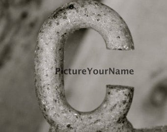 ALPHABET LETTER PHOTOGRAPHY of C - Personalized Print, Shower Gift, Wedding Gift, Anniversary photo letter art photography prints