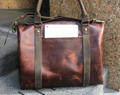 Parkrow Leather Duffle / Antique Leather Weekender Overnight Bag / Vintaged Travel Bag / Handmade Leather Duffle Bags Custom Made Hand Sewn