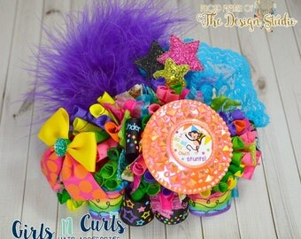 Ready To Ship I Do My Own Stunts Funky Loopy Boutique Bow