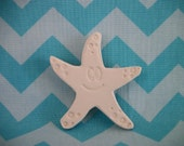 Custom Reserved Listing for Nicole, 12 Bisque Starfish Magnets, Star Fish DIY Craft, Sea Party, Ocean Party, Ocean Theme Birthday Party