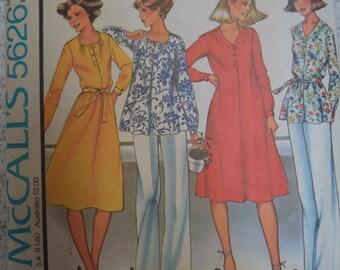 McCalls Vintage 70's Dress or Lounge Wear Pattern