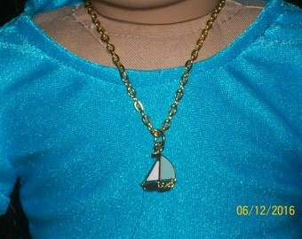 Doll Necklace Boat for American Girl