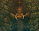 Mother, Child, Inner self, Lotus, Eagle Print