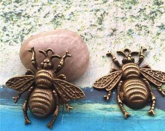 10pcs 31x23mm antiqued bronze plated large Bee findings pendant