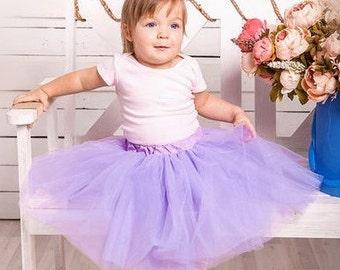 Flower Girl Tutu Skirt, Lavender, Birthday, Princess