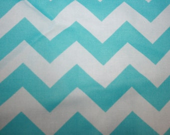 SALE> Blue Chevron  Modern Apparel Quilting Designer  Cotton fabric by the yard.
