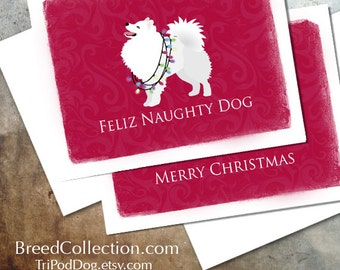 American Eskimo Dog Christmas Card from the Breed Collection - Digital Download Printable