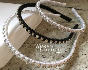 Wedding headband,adult headband,teen headband,rhinestone headband,women headband,girl headband,toddler headband,bridesmaids headband,10
