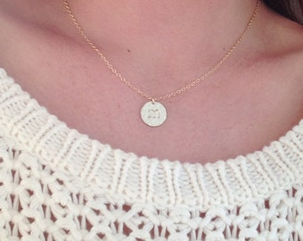Initial necklace- Personalised, statement Gold disc necklace- initial necklace- large disc, large monogram