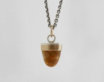 gemstone drop necklace bullet cabochon necklace gold bezel gemstone necklace fine jewelry one of a kind necklace ocean jasper modern