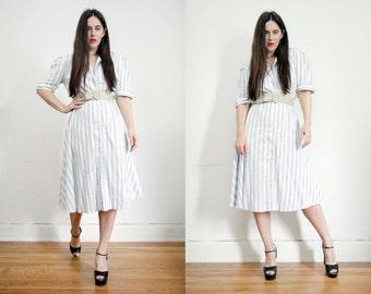 Vintage Stripe Candy Nautical Cotton Sun Dress