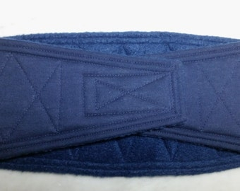 Belly Band Waist 19.00 x Width 4.50 inches Male Dog Wrap Diaper Belt by SewDog 3 Layers Quilted Padded Wrap #417 NAVY BLUE