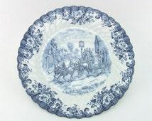 Johnson Brothers Coaching Scenes Blue Dinner Plate 10""