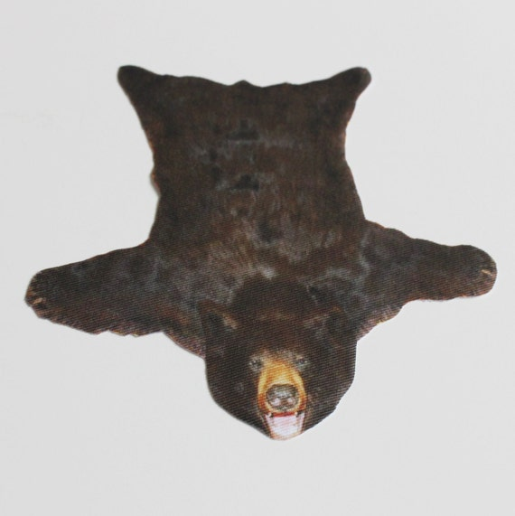 Dollhouse Miniature Bearskin-Look Rug in One Twelfth Scale