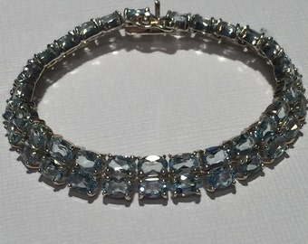 Sterling Silver and Blue Topaz Bracelet