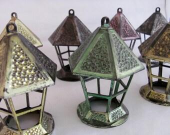Vintage Plastic Lantern Ornament Lot of 8 - Christmas Sale - Bradford Collectible