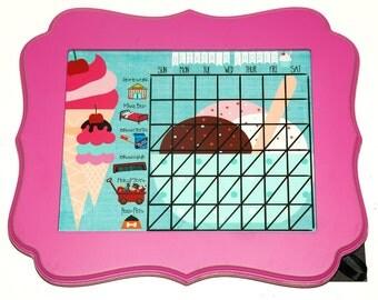 Children's ice cream theme 8x10 chore list- Framed or Unframed