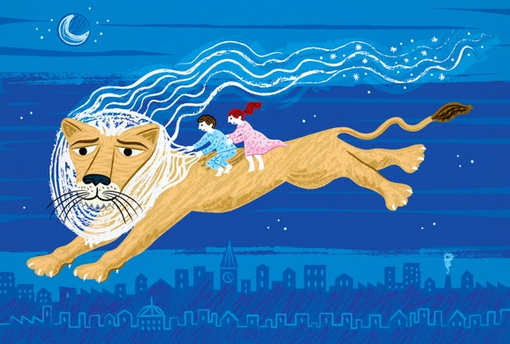 Your Wildest Dreams - Limited Edition art Poster Print - illustration by Oliver Lake - iOTA iLLUSTRATION