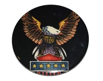 """Bald Eagle Pocket Mirror 3"""" Large Patriotic American Eagle"""