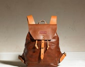 Sandy Rucksack - Brown/Tan Leather