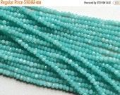 50% VALENTINE SALE 5 Strands WHOLESALE Aqua Blue Topaz Mystic Coated Topaz Micro Faceted Rondelle Beads Topaz Necklace Size 3.5mm To 4mm app
