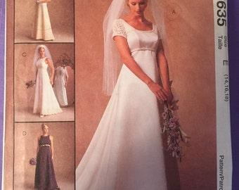 McCalls 8635 Wedding dress and bridesmaid dress