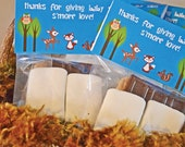 S'more Love Baby Shower Woodland Treat Favor Bag Toppers, Personalized DIY Digital File