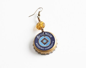 Bottlecap Earrings, Can Earrings, Recycled Can Earrings, Ecofriendly Jewelry, Ecofriendly Gift