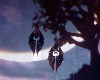 Flying Fox! - Stainless Steel Bat Earring Set
