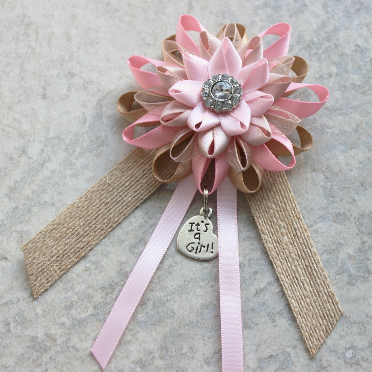 Rustic Baby Shower Decorations, Pink Baby Shower Corsage ...