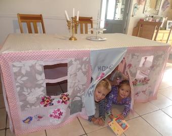 Custom made Tablecloth Playhouse - Home Sweet Home
