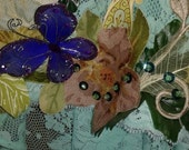 Fairy butterfly leaf and feather top