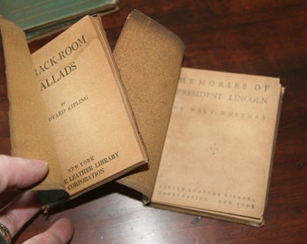 Little Leather Library Books -Shakespeare, Longfellow, Whitman, etc. Choose One