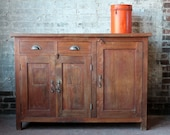 Reclaimed Sideboard Antique Indian Industrial Boho Chic Natural Wood Zinc Top Buffet Media Console Vanity Kitchen Island Import Furniture