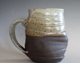 Twisted Coffee Mug, 19 oz, handmade ceramic cup, tea cup, coffee cup, handthrown ceramic stoneware pottery mug, unique coffee mug