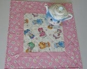 Kitty Quilted Table Topper, Quilted Table Runner, Retro Vintage, Table Quilt,  Kitty Cucumber by In the Beginning Fabrics
