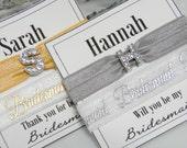 Bridesmaid Hair Ties   Custom Hair Ties   Personalized Hair Ties   Name Hair Ties   Elastic Hair Ties   Elastic Hair Bands   Hair Tie Gift